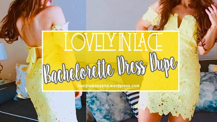 Bachelorette Dress Dupe