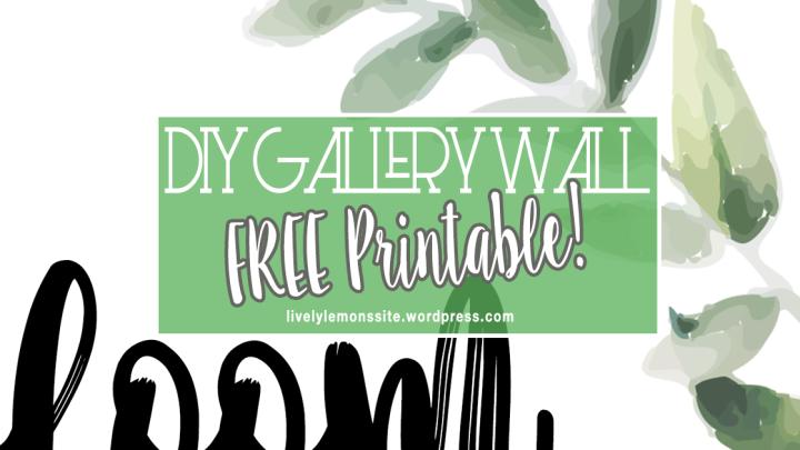 FREE Gallery WallPrintable
