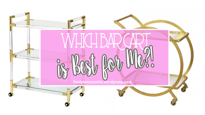 Which Bar Cart is Best for Me?!