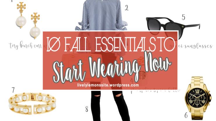 Fall Essentials cover